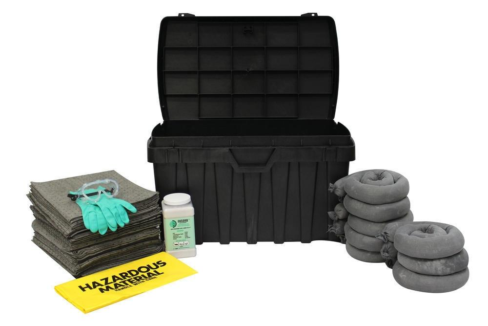 Absorbents Spill Kit - Storage Cabinet - Universal, Oil & Aggressive Absorbents - 13-SRC-XL