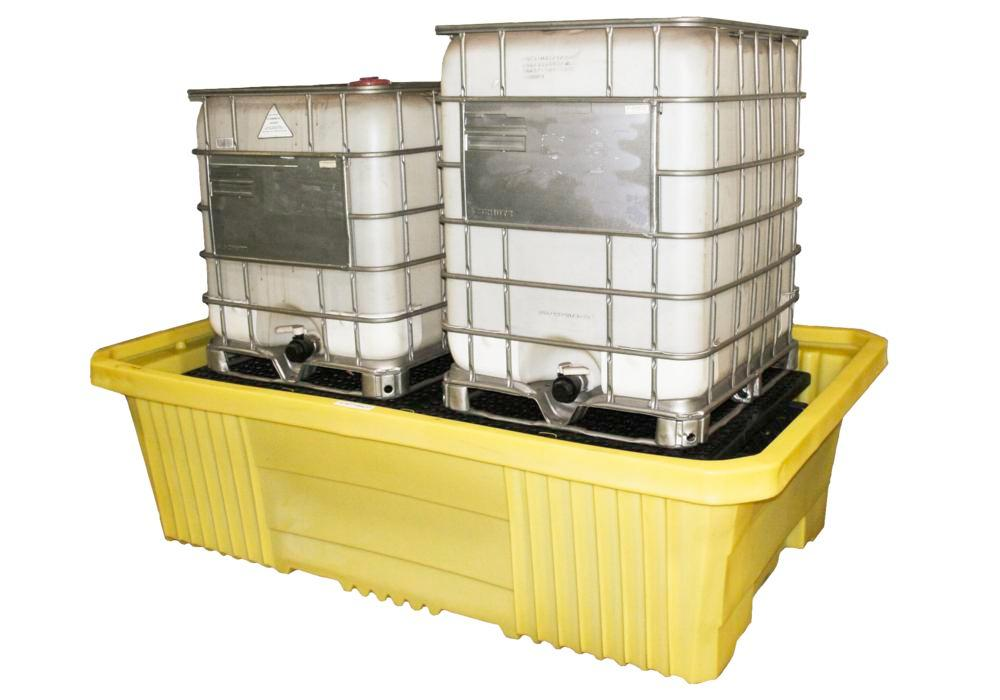 Double IBC Tote Poly Sump with Drain
