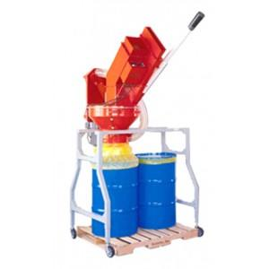 Fluorescent Bulb Crusher with Rolling Rack