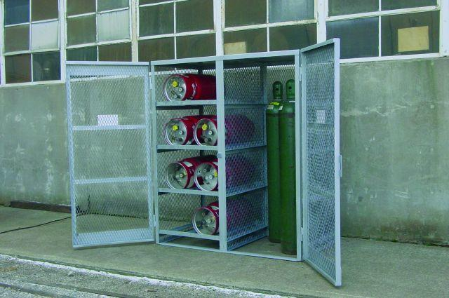 Gas Bottle & Cylinder Cage - Combo - 8 Bottles Horizontal / 5 to 10 Cylinders. Vertical - Galvanized