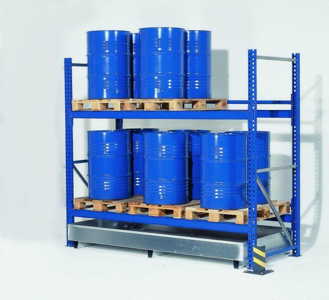 """Pallet Rack Spill Containment Sump - 108"""""""