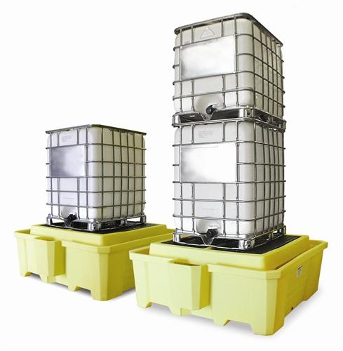 Poly IBC Sump with Dispensing Well with Drain