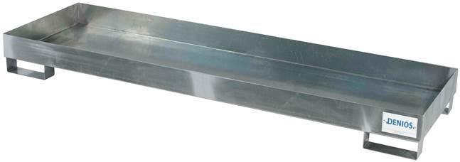 Spill Pallet - Galvanized Steel 4 Drum Inline - No Grating