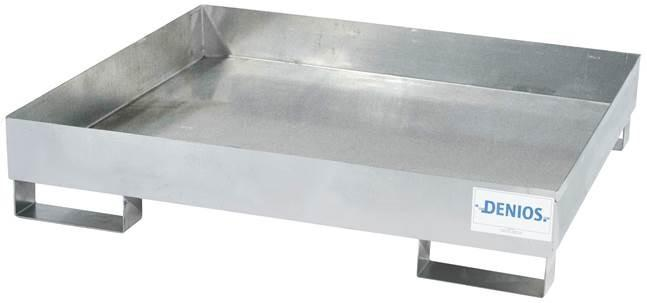 Spill Pallet - Galvanized Steel 4 Drum - No Grating