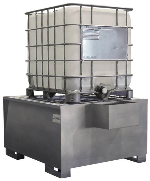 Spill Sump - Galvanized Steel IBC w/ Dispensing Well - 350 Gallon