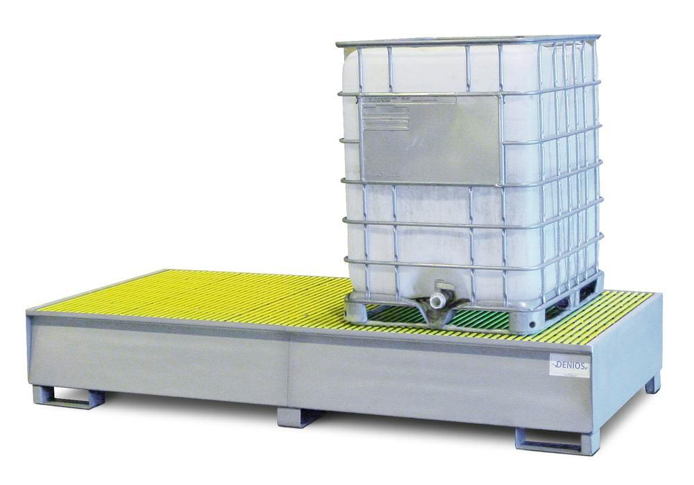 Spill Sump - Stainless Steel 350 Gal IBC - Double IBC Sump - Fiberglass grating