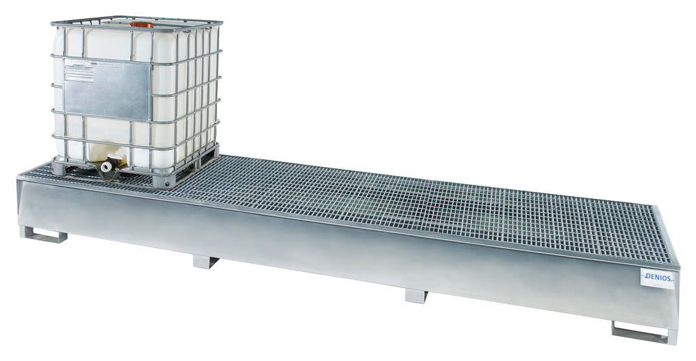 Triple Tote Sump with Grating - 3 IBC - Galvanized