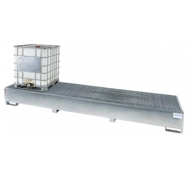 Triple Tote Sump with Stainless Steel Grating - 3 IBC - Stainless