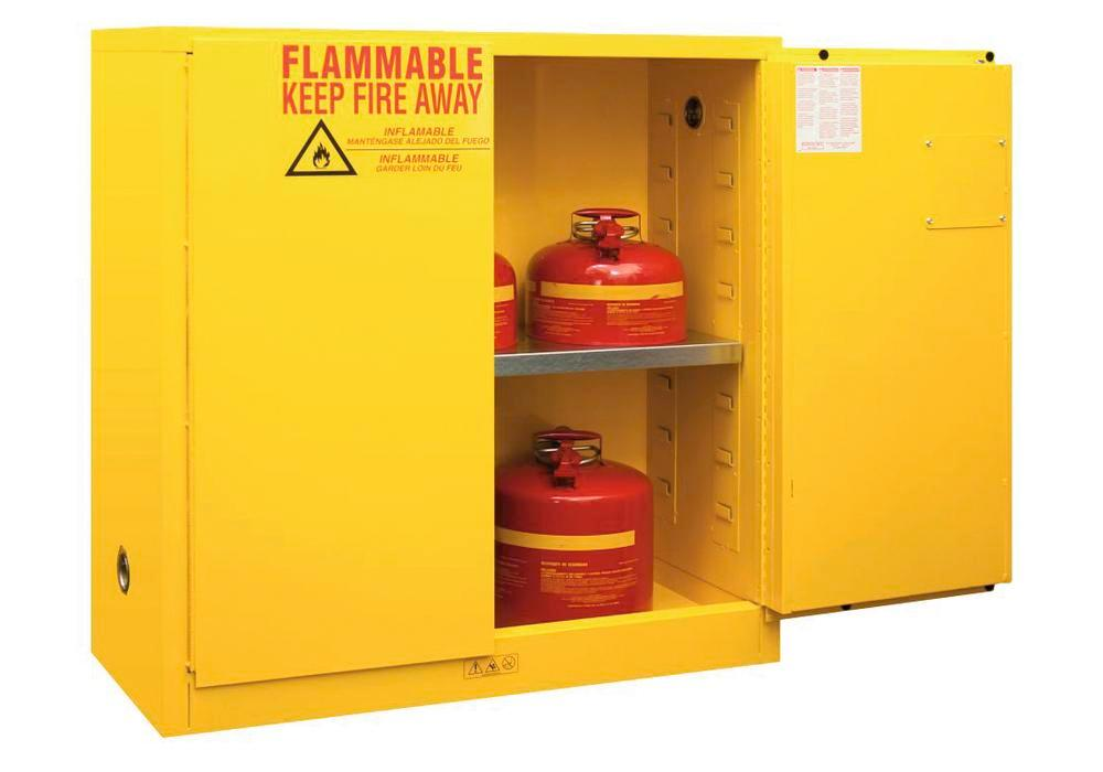 30 Gallon Flammable Safety Cabinet - FM Approved - Manual Closing