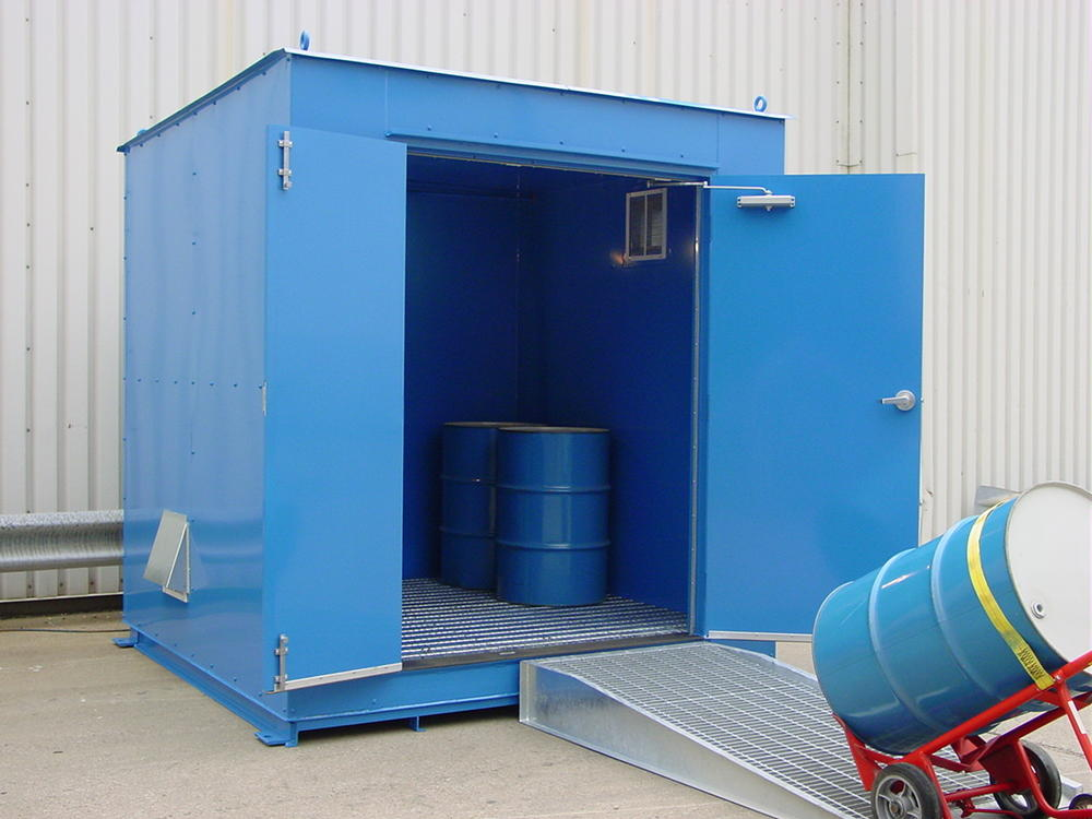 8' Non-Combustible Storage Building - 12 Drum