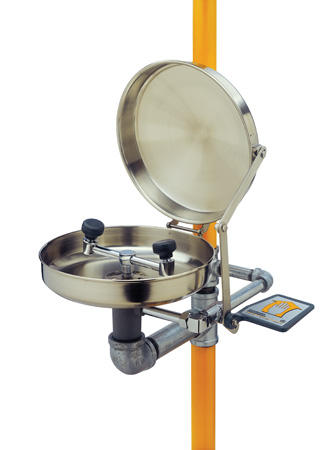 Eye Wash and Shower Station - Stainless Steel Bowl w/Cover