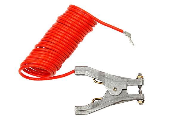 Retracting Grounding / Bonding Cable Coil - 10-Foot length cable