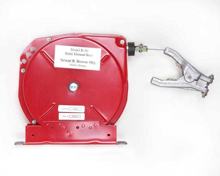 Retracting Grounding / Bonding Cable Reel - 50-Foot length