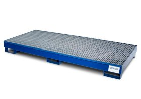Spill Containment Pallet - 8 Drum Capacity - Removable Galvanized Grating - Painted Steel-w280px