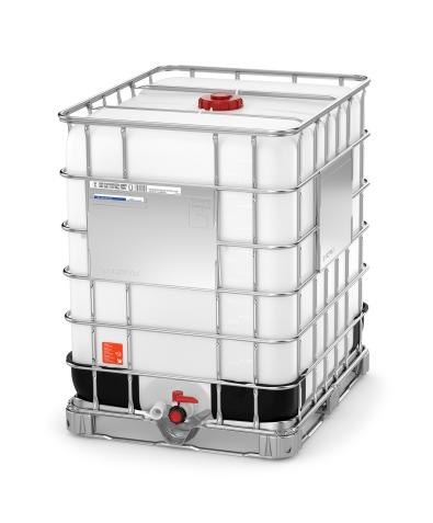 330 Gallon Poly IBC Tote - Steel base