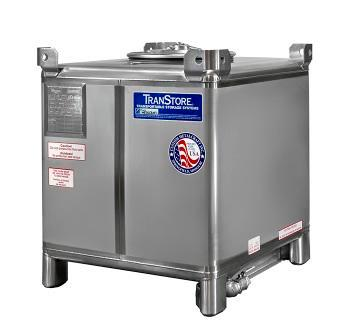 350 Gallon IBC Tote - Stainless Steel
