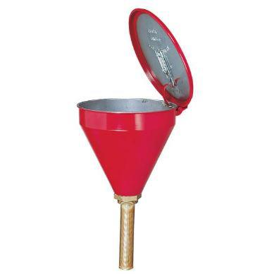 "FM Approved - Flammable Waste Liquid Drum Funnel - Funnel w/o Check Valve - 32"" Brass Tube"