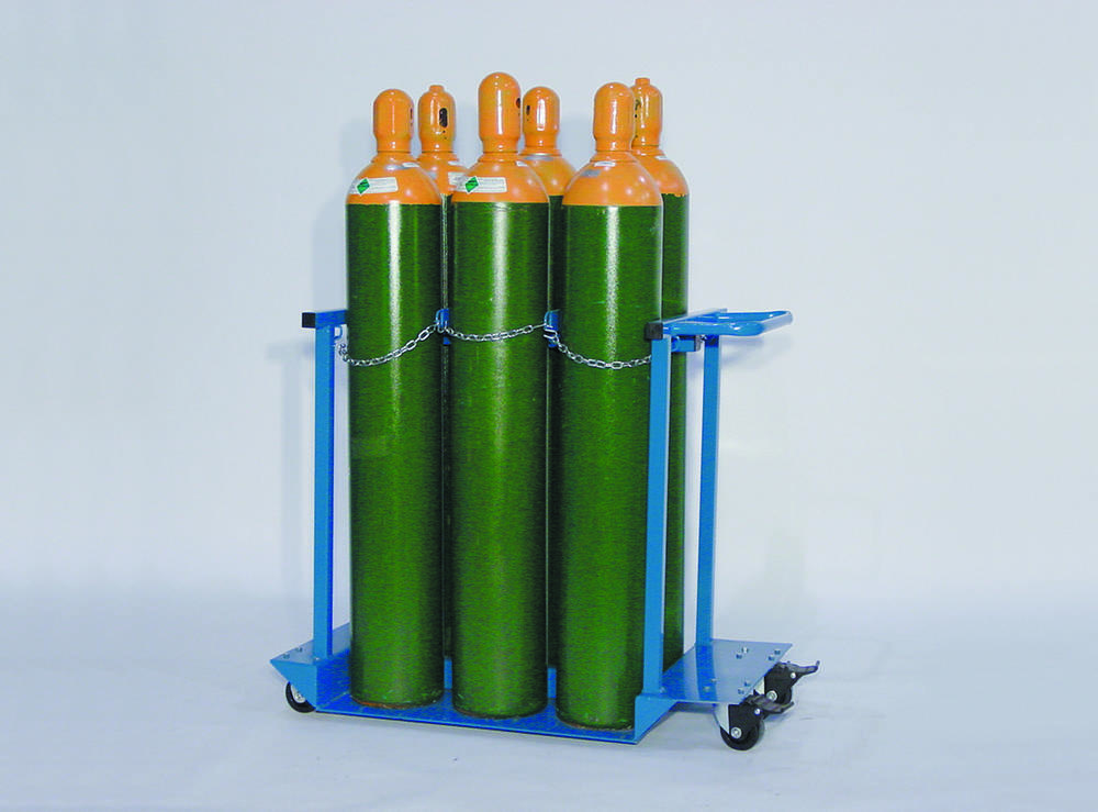 Gas Cylinder Push Caddy - Casters