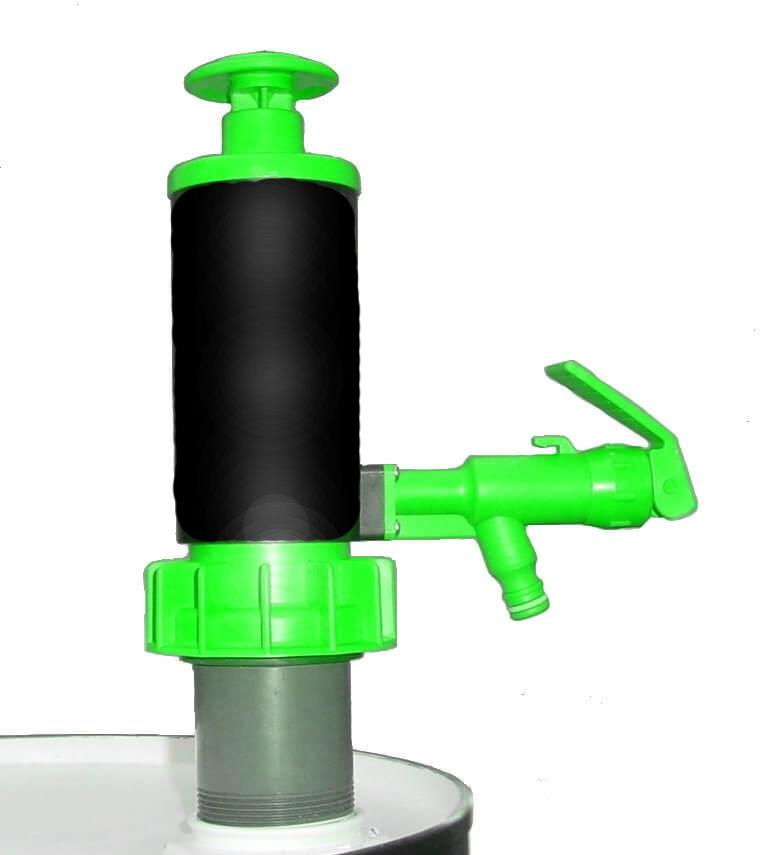 Green Viton Hand Pump for Drums & Pails