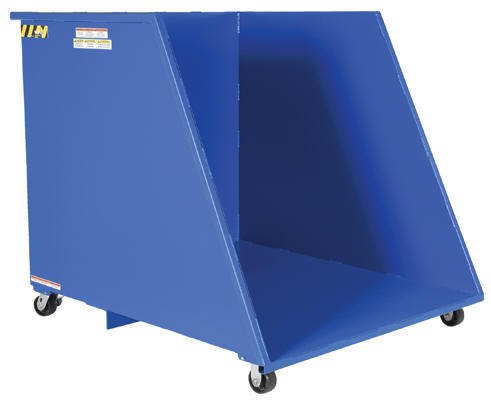 Hopper - Open Ended Steel Dumping - 1/2 cubic yard
