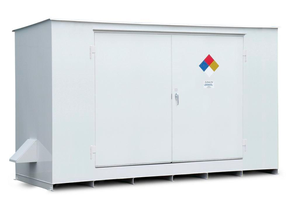 N Series - Non-Combustible - 150 mph Wind Rating - 12 Drum Locker