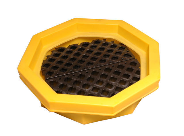 Poly Drum Tray - with Grating