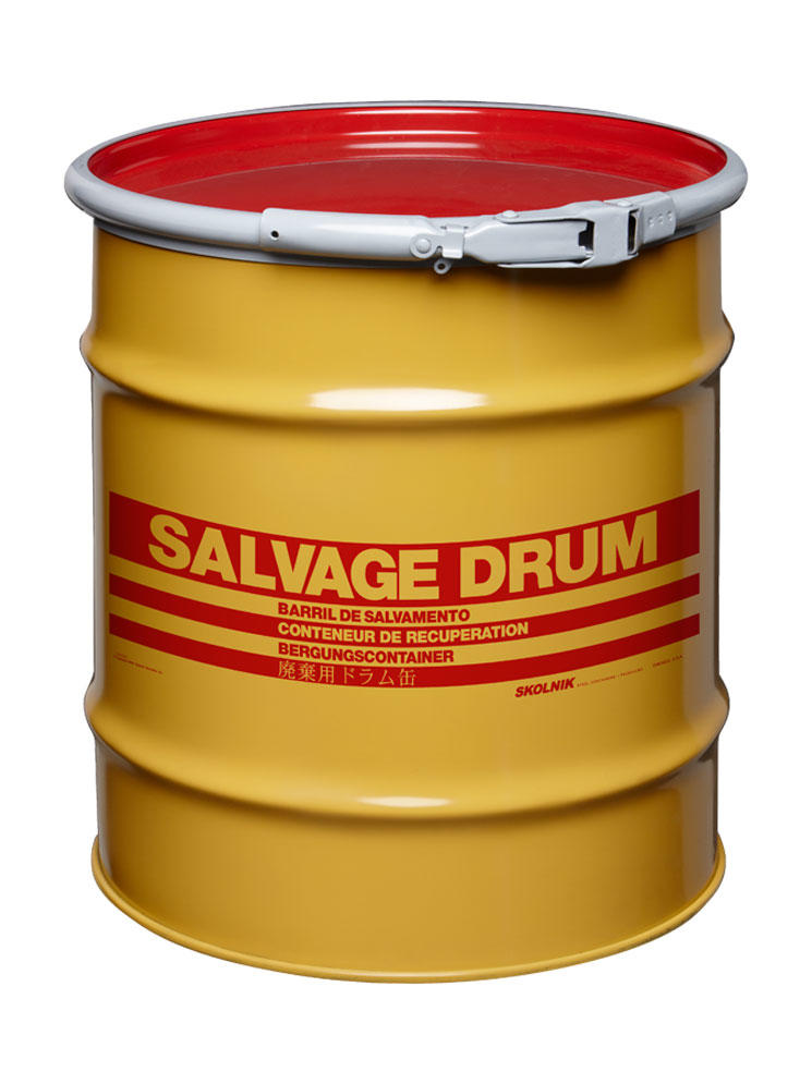 Steel Salvage Drum - 20 Gallon