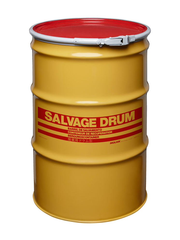 Steel Salvage Drum - 55 Gallon