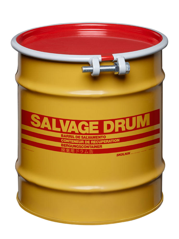 Steel Salvage Drum - 8 Gallon