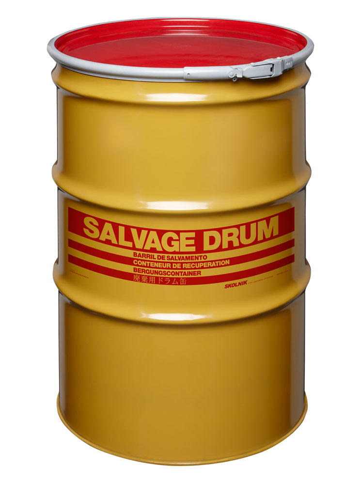 Steel Salvage Drum - 85 Gallon