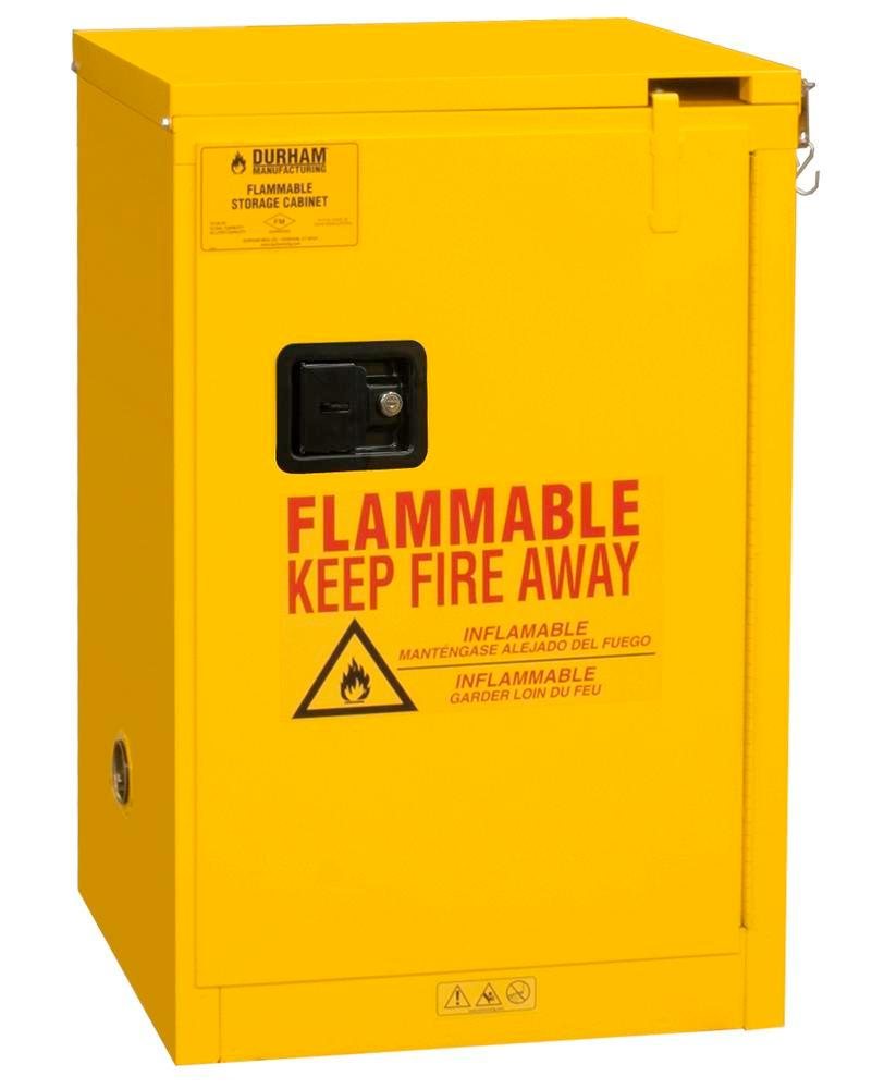 12 Gallon Flammable Safety Cabinet - FM Approved - Self-Closing