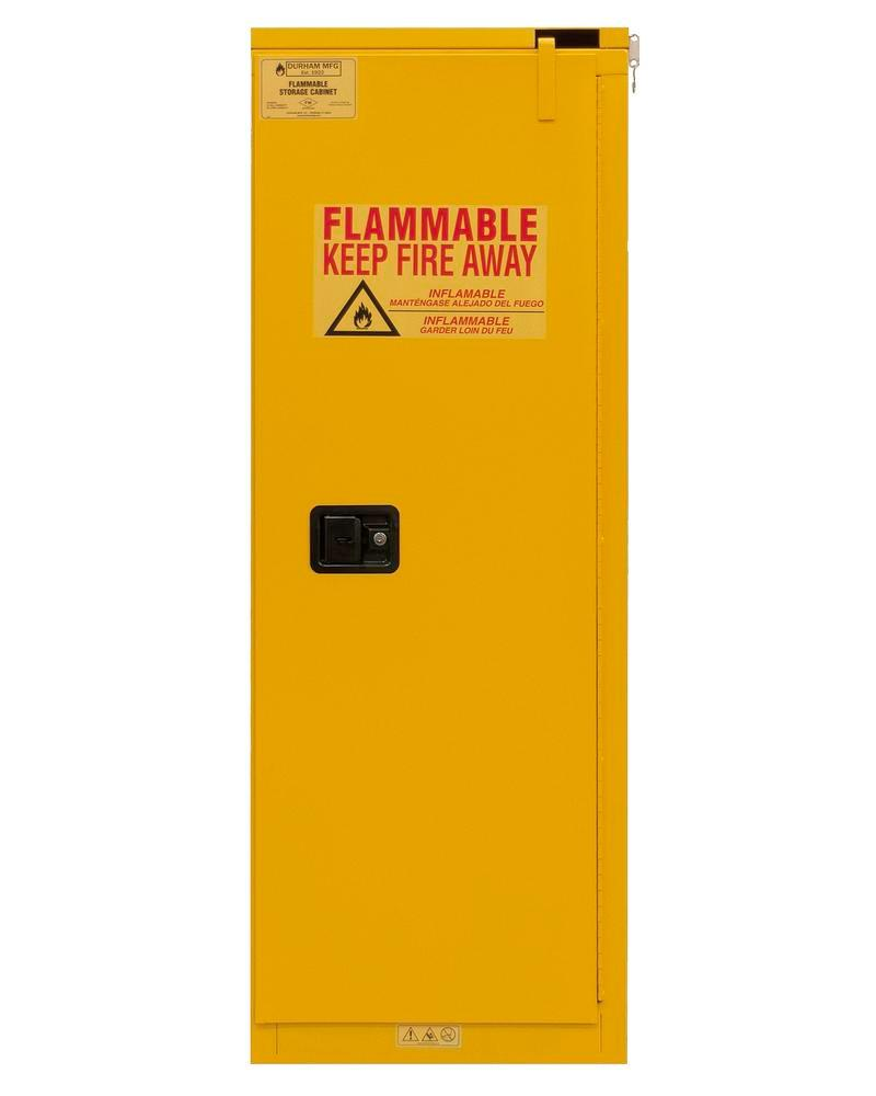 22 Gallon Flammable Safety Cabinet - FM Approved - Self-Closing