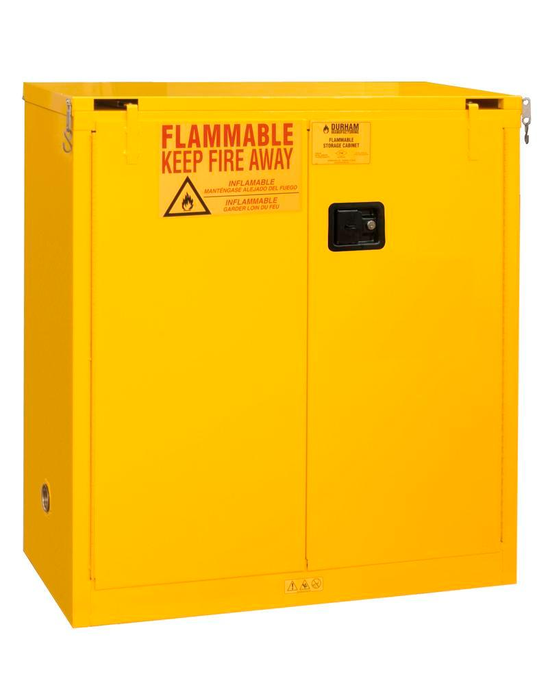 30 Gallon Flammable Safety Cabinet - FM Approved - Self-Closing