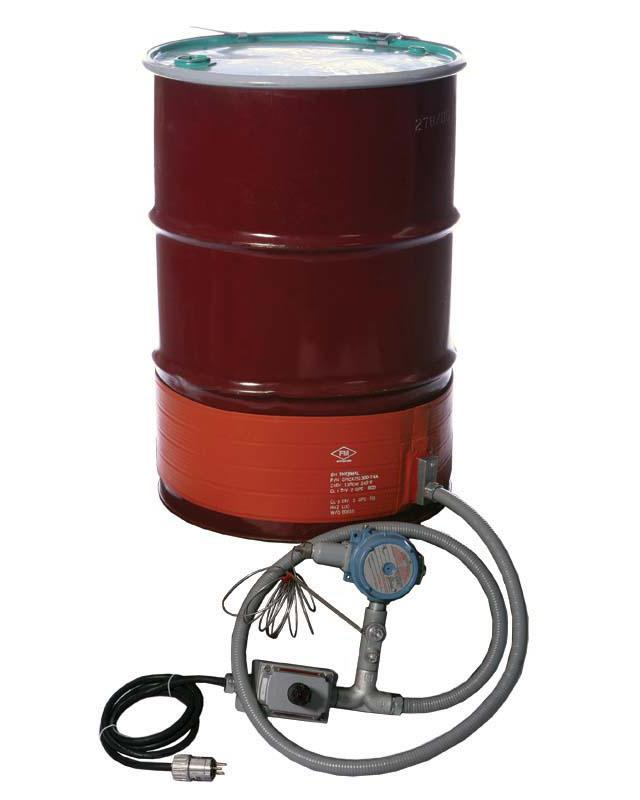 Explosion Proof Strip Heater - Steel Drum - 30 Gallon - 120V - T3 Environment
