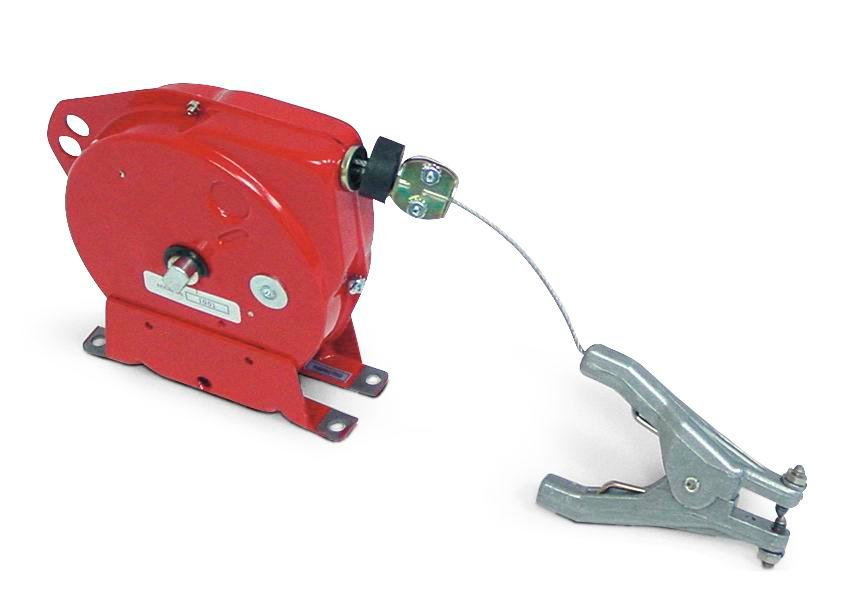 Retracting Grounding / Bonding Cable Reel - 20-Foot length