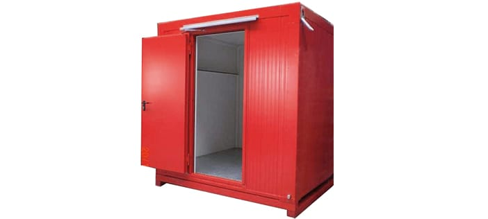 Extingusihing gases stored safely